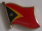 East Timor Country Flag Enamel Pin Badge